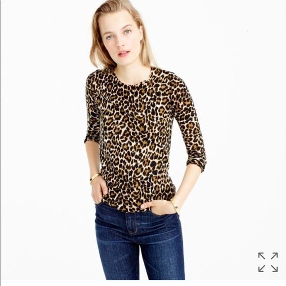 1cd0093f2354 J. Crew Sweaters | Jcrew Tippi Sweater In Leopard Print Large | Poshmark